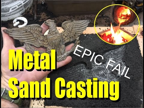 How to Metal Casting with a simple one part Casting Sand mold