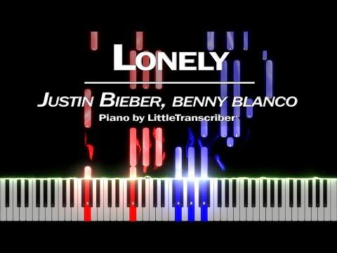 Justin Bieber \u0026 benny blanco - Lonely (Piano Cover) Tutorial by LittleTranscriber