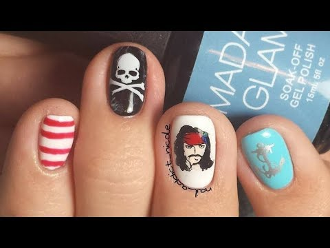 Pirates Of The Caribbean Nails! | Disney Nail Art