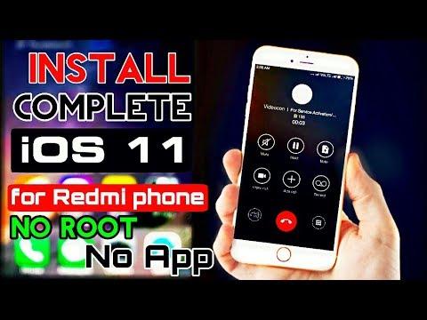100%-Install Real iOS 11 on Redmi phones | miui theme- pure iOS 11