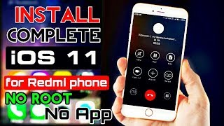 100%-Install Real iOS 11 on Redmi phones | miui theme- pure iOS 11