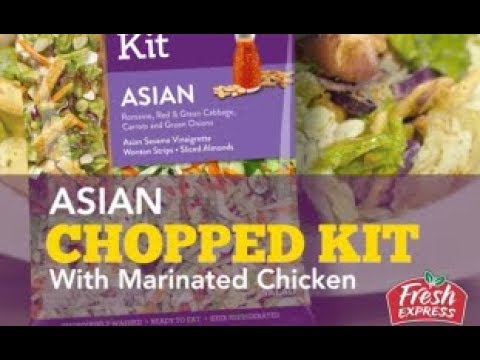 Asian Chopped Salad with Marinated Chicken - Fresh Express Recipe