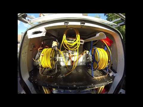 Window Cleaning Simple DIY WFP Pure Water Set Up With Rear Mounted Tank - VW T5 Van Tour
