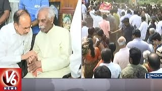 BJP MP Bandaru Dattatreya`s Son Vaishnav Final Rites Completed | Hy...