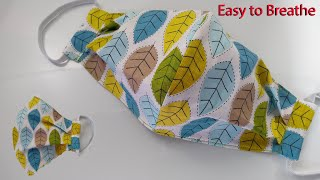 Breathable Face Mask Pattern Sewing Tutorial How to make a Face Mask Face Cover Mascarilla