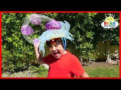 Head Splat Water Balloons Challenge with Ryan