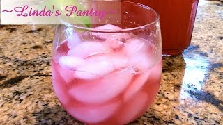 ~rhubarb Raspberry Lime Aid For Fathers Day With Linda's Pantry~
