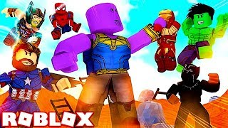 I've BEEN a AVENGERS! Roblox 4 Player Superhero Tycoon