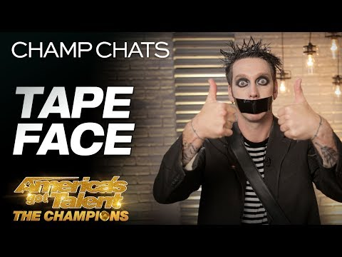 Tape Face Leaves Us Speechless With This Interview - America's Got Talent: The Champions