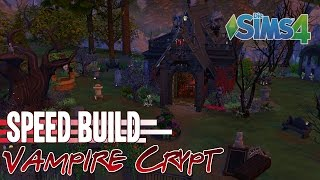 Sims 4 || SPEEDBUILD || Vampire Crypt