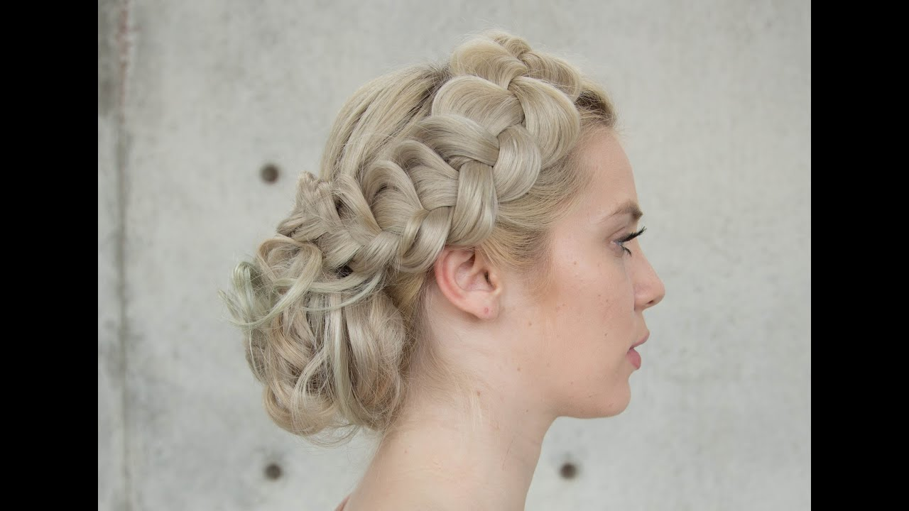 hair up styles ponytail braided upstyle 6237