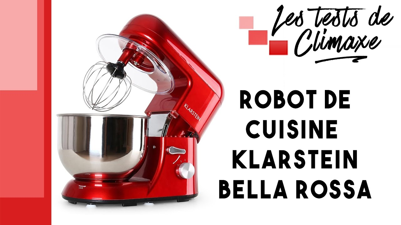test d 39 un robot de cuisine klarstein bella rossa tk2 1200w youtube. Black Bedroom Furniture Sets. Home Design Ideas