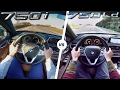 BMW 7 Series 2017 750i vs 750d ACCELERATION & TOP SPEED POV Autobahn by AutoTopNL