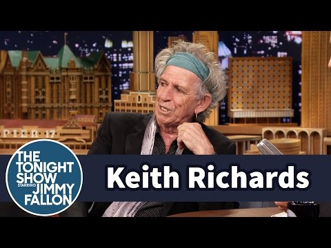 Keith Richards Watches Cartoons with His Grandkids