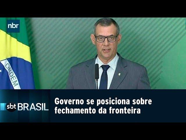 Governo se posiciona sobre fechamento da fronteira com a Venezuela | SBT Brasil (21/02/19)