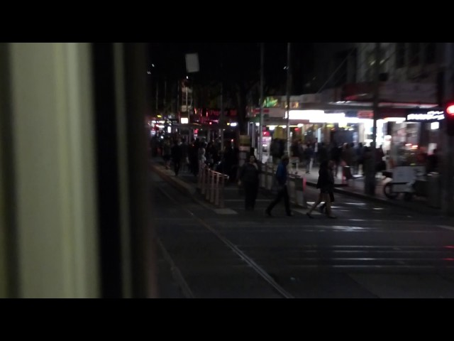 Melbourne tram ride into White Night