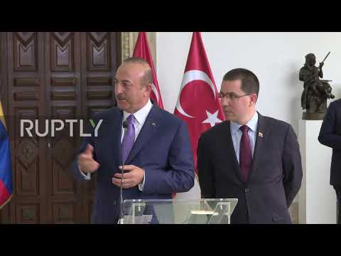 Venezuela: Turkish FM slams US sanctions against Caracas