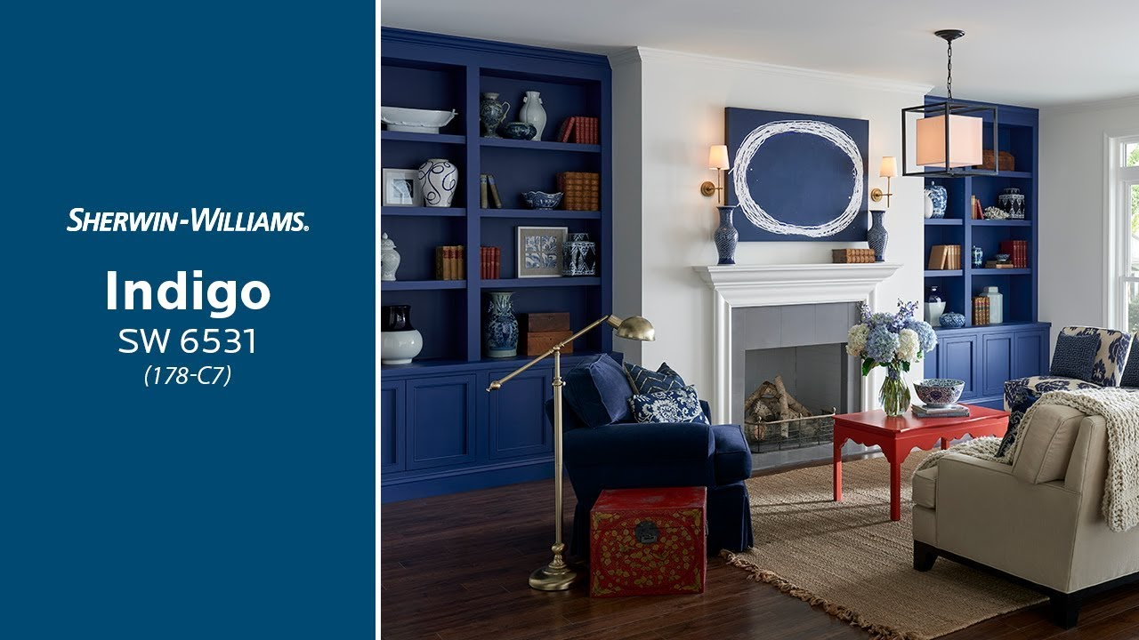 july 2018 color of the month indigo sherwin williams youtube
