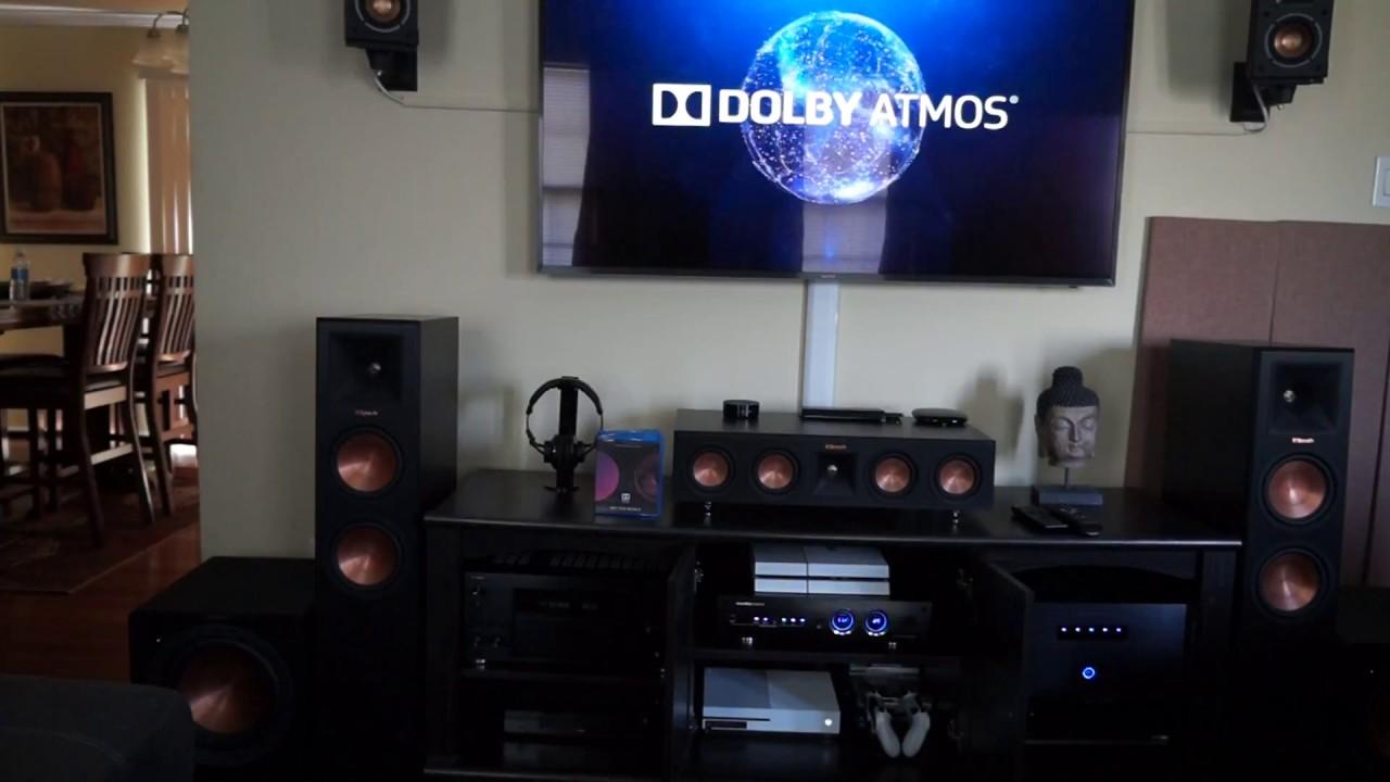 Klipsch 5 2 2 Home Theater Dolby Atmos Demo Horizon Youtube