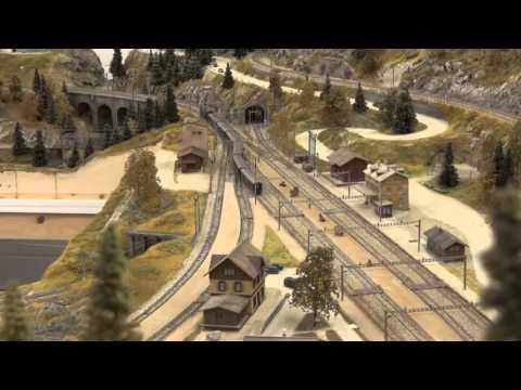 Schweizer Alpenbahn (Spur N) im Bau / Building a Swiss Model Railroad (N-Scale)