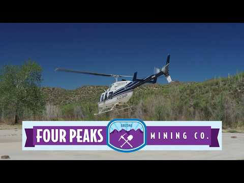 Helicopter Tour of the Four Peaks Amethyst Mine