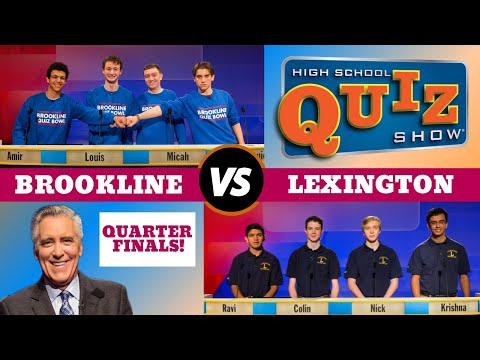 High School Quiz Show - Quarterfinal #:1 Brookline vs. Lexington (809)