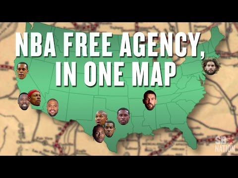 The most important NBA free agent signings, visualized