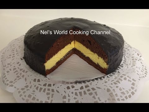 Chocolate Cake With Custard Filling Recipe  - How To Make The Most Amazing Chocolate Cake