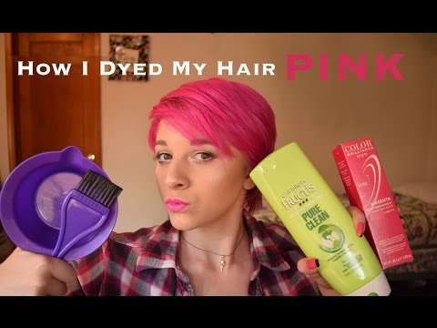 How I dyed my hair pink (ION semi-permanent magenta)