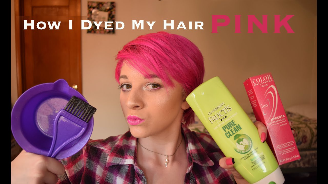 How I Dyed My Hair Pink Ion Semi Permanent Magenta Youtube