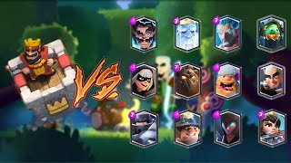 KING TOWER VS ALL LEGENDARY CARDS IN CLASH ROYALE