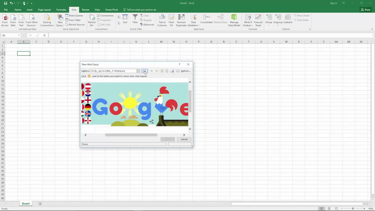 Excel Power Query using Web Query