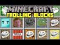 Minecraft TROLLING BLOCK MOD! | BUILD NEW TROLL BLOCKS TO TROLL PEOPLE! | Modded Mini-Game