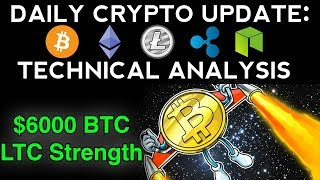 Daily Crypto Update (10/20/17) $6000 BTC! + Technical Analysis