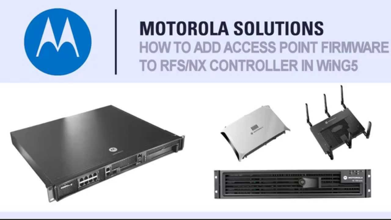 How to video for loading access point firmware images on an RFS or NX  controller