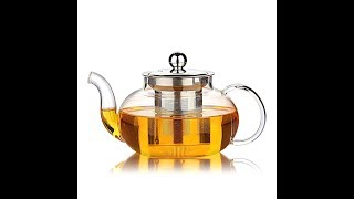 Review Hiware Good Glass Teapot with Stainless Steel Infuser & Lid