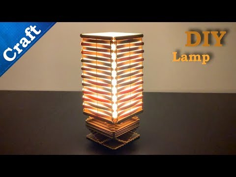 Easy Popsicle Stick Craft || How to make an Ice Cream Sticks Lamp