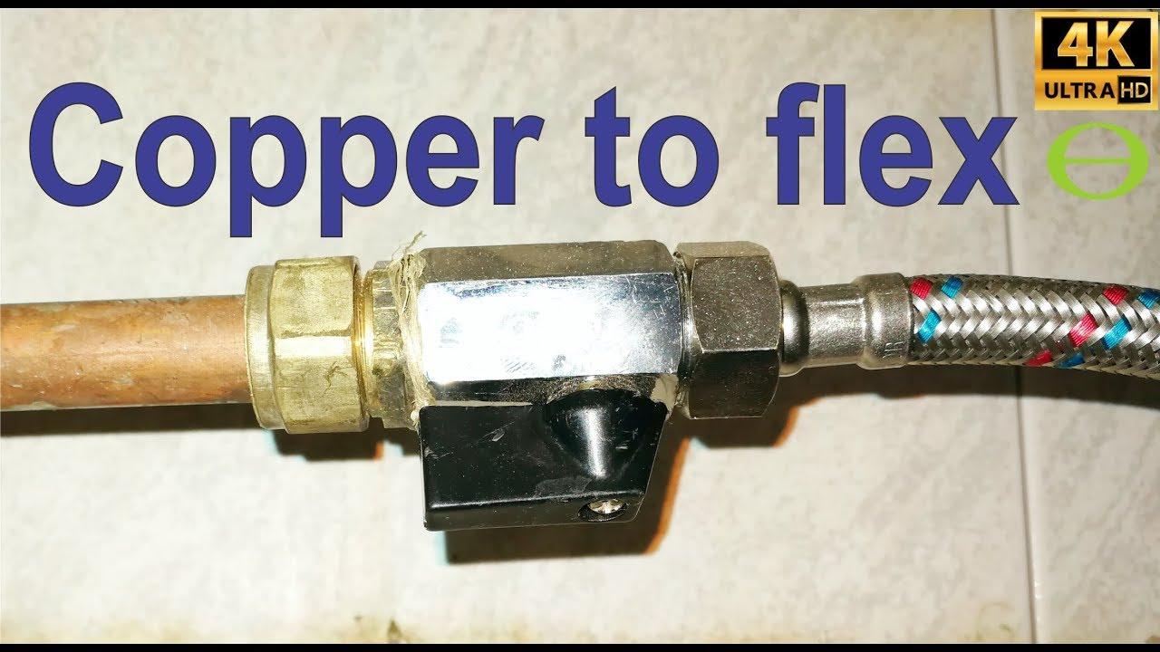 How To Join A Flexible Flexi Pipe Copper Conex