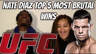 Nate Diaz Top 5 Most Brutal Wins | Reaction