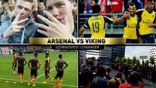 ARSENAL MOT VIKING FOTBALLKAMPVLOG!! FØRSTE ARSENALKAMP & MÅLFEST I STAVANGER!!