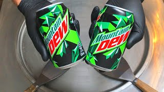 Mountain Dew Ice Cream Rolls | how to make Mountain Dew Ice Cream - rolled ice cream recipe | ASMR