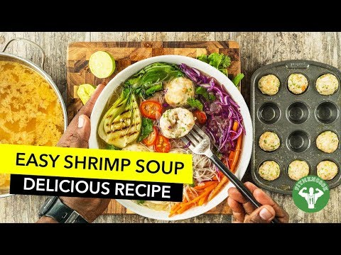 Healthy Shrimp Meatballs Soup Recipe