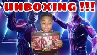 UNBOXING!!! IRON MAN MARK 50 Y IRON SPIDER !!! INFINITY WAR !!!