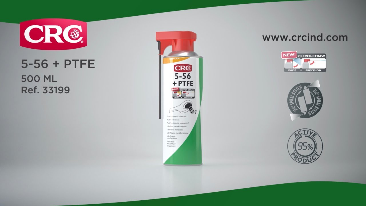 CRC 5-56 + PTFE With PermaLock Animated Product Video
