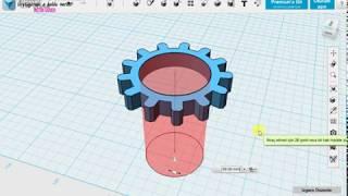Bilgisayar destekli tasarım ünitesi Dişli Çizimi 123d design