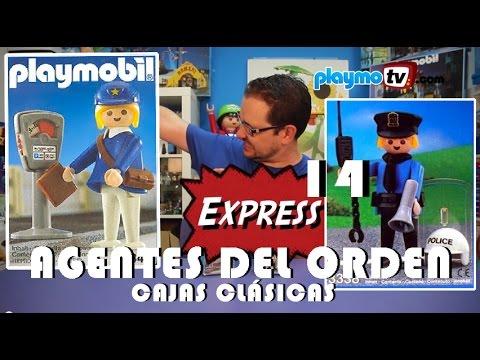 Playmotv Express  14 | Agentes del orden | Playmobil 3338 y 3349 | Cajas clásicas