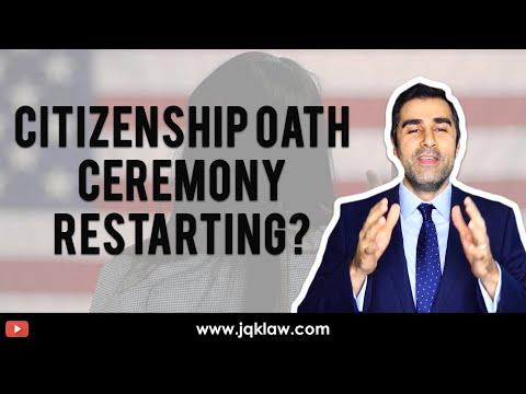 Citizenship Oath Ceremony Restarting