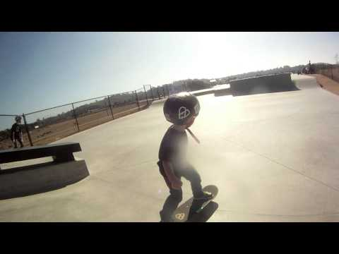 3.5 y/o Skating Alex Road Skate Park