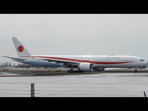 Japan Air Self-Defence Force Boeing 777-300(ER) (B77W) Departing Ottawa (YOW/ CYOW)