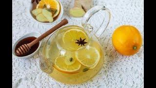 Лучший НАПИТОК для ОСЕНИ - имбирный чай с апельсинами!